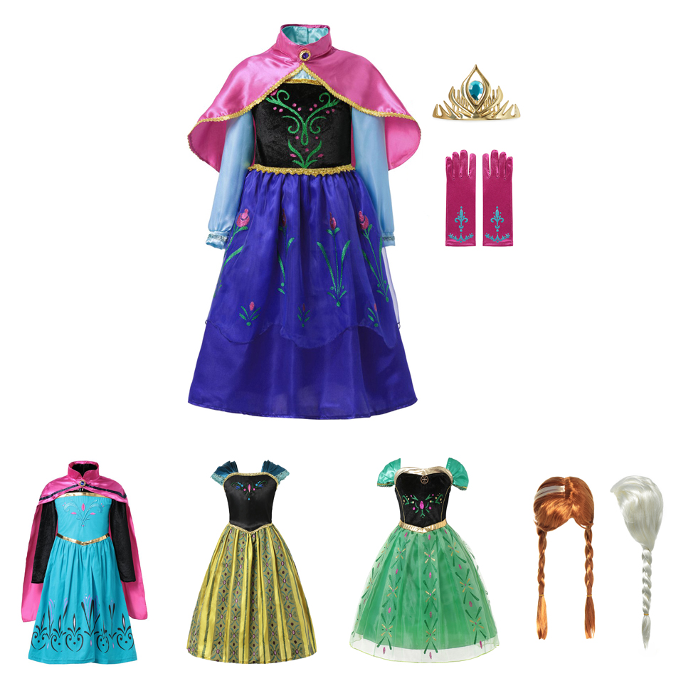 MUABABY Anna Elsa Dress Up Fancy Clothes for Girls Floral Birthday Party Gown Children Kids Snow Queen Princess Costume OutfitMUABABY Anna Elsa Dress Up Fancy Clothes for Girls Floral Birthday Party Gown Children Kids Snow Queen Princess Costume Outfit