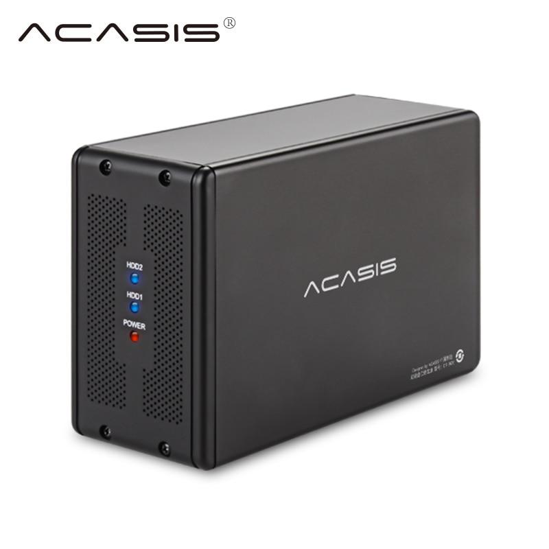 ACASIS ДТ-3608 SATA серийный порт для USB3.0 мобильный массив жестких дисков RAID-массива жестких диска настольного компьютера 3.5-inchDual-Жесткий диск
