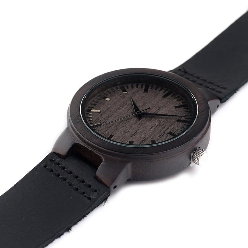 acaf4dac12e2 Reloj de madera de bambú con pulsera de cuero para hombre - free ...
