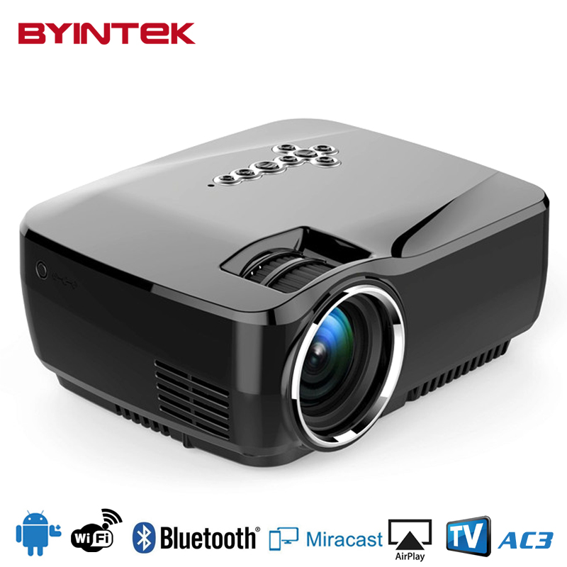 Buy byintek gp70up smart android wifi bluetooth home theater portable hd 1080p for Small bluetooth projector