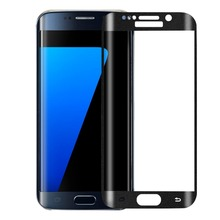 Esing Silk-Screen Safety  3D Arc 0.2mm 9H Hardness Tempered Glass Film Full Cover Screen Protector for Samsung Galaxy S7 edge