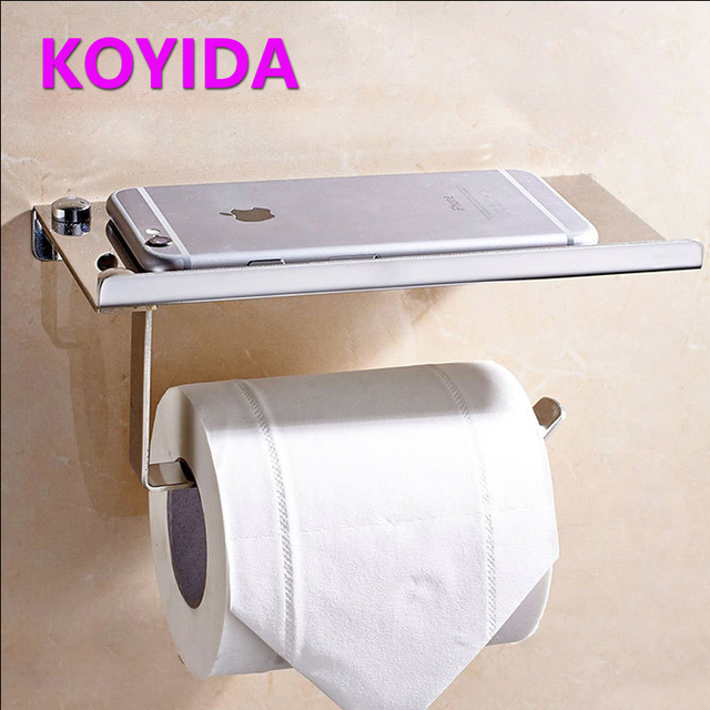 KOYIDA Square toilet roll holder stainless steel paper towel holder wall  mount toilet paper holder bathroom. KOYIDA Square toilet roll holder stainless steel paper towel