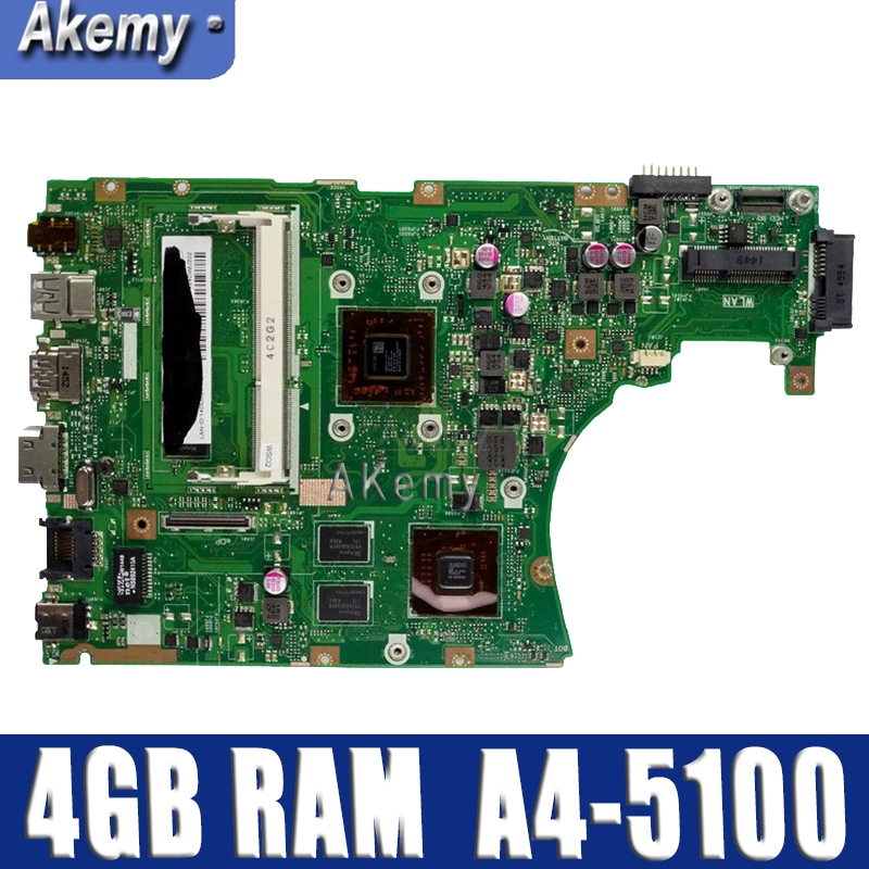 X455WE  laptop motherboard For ASUS X455W X455WE X454W X454WE  Mainboard 100% test 4GB RAM A4-5100 CPUX455WE  laptop motherboard For ASUS X455W X455WE X454W X454WE  Mainboard 100% test 4GB RAM A4-5100 CPU
