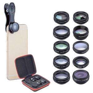 Image 3 - 10 ב 1 טלפון עדשות ערכת Fisheye רחב זווית מאקרו עדשה עבור טלפון xiaomi samsung galaxy אנדרואיד טלפונים