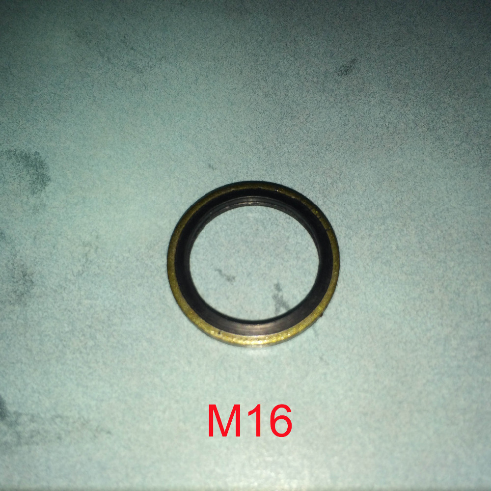 50 PCS Metal Rubber bonded o ring seal washer Drain Plug Gasket Fit M16 in Washers from Home Improvement