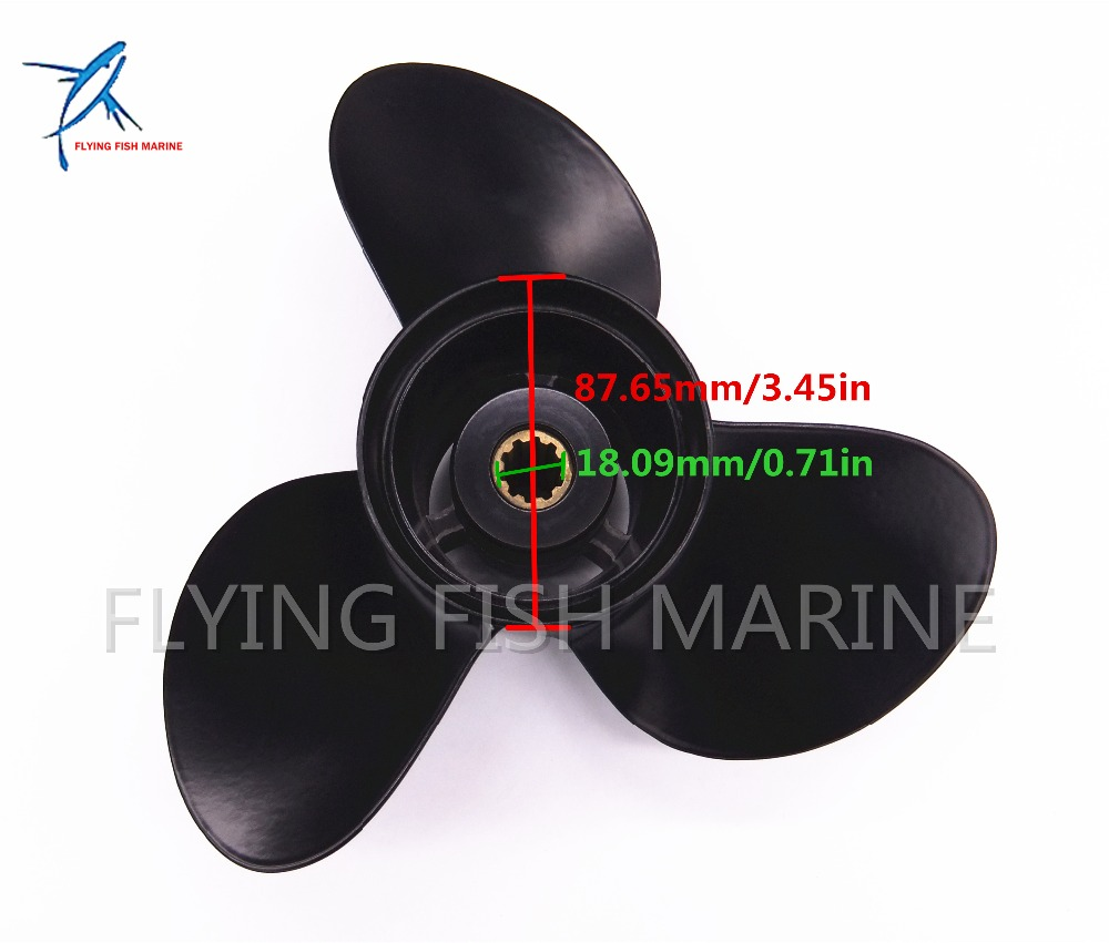 10 1/4x11 K Outboard Engine Aluminum Propeller for Suzuki Johnson Evinrude OMC 25HP 30HP Boat Motor 10 1/4 x 11 K цена