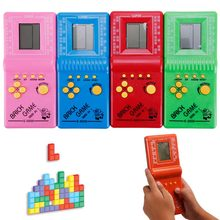 Retro Classic Childhood Tetris Handheld Game Spelers LCD Kids Games Speelgoed Game Console Riddle Leren Educatief Speelgoed #270250(China)