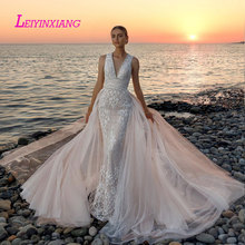 LEIYINXIANG Bride Dress Wedding Dress Backless V-Neck