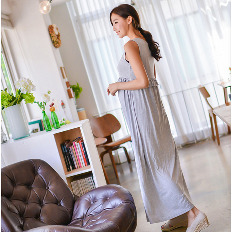 38035e985cd25 Summer Maxi Maternity Breastfeeding Nursing Dresses Pregnant Mother Lactate Clothes  Pregnancy Wear Breast Feeding Dress Clothing-in Dresses from Mother ...