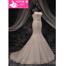 MTOB1867 Elegant Strapless Mermaid Wedding Dress 2018