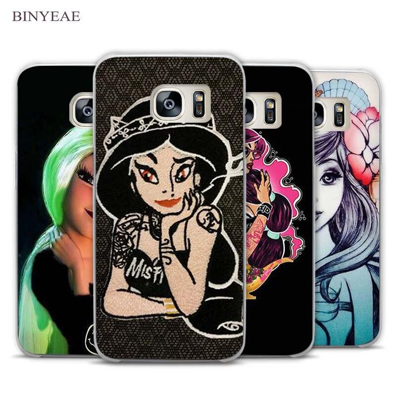 c45c98e3b1f Vintage tatuado princesa Alice Ariel claro teléfono funda para Samsung  Galaxy Note 2 3 4 5 7 S3 S4 s5 mini S6 S7 S8 borde más
