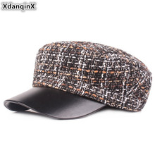 XdanqinX Autumn Women's Hat Elegant Army Military Hats Snapback Cap Flat Caps For Women Female Winter Hat With Adjustable Rope xdanqinx autumn winter women s hat 100
