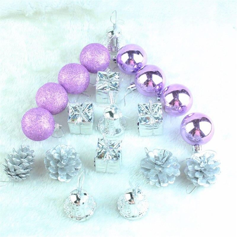 20 Pcs Pack Mini Gift Box Christmas Ornament Stars Ball Pinecone