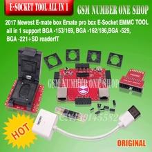 Todo En uno E-mate Pro E MATE PRO CAJA de E-Socket SOPORTA BGA-153/169, BGA-162/186, BGA-529, BGA-221 CHIP para Riff Box