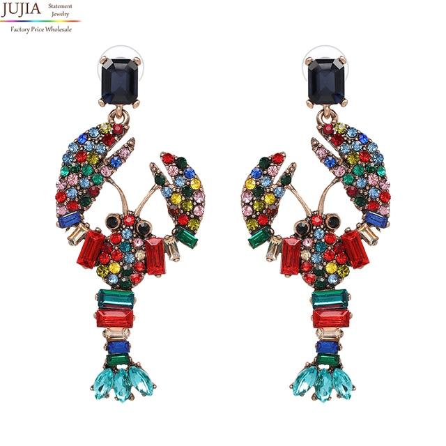 JUJIA Hot sale wholesale New vintage DROPS earrings fashion women statement crystal dangle Earrings for women