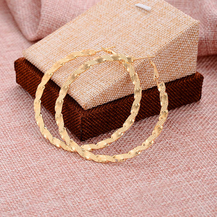 Hesiod Vintage Twisted Patterned Hoop Earrings Women's Fashion Jewelry Drop Pendant Design Earring