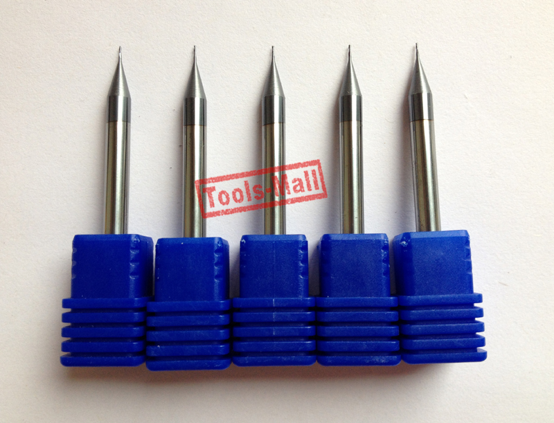5vnt 0,4mm, mikrogrūdų volframo karbido plokščias galas, 2 - Staklės ir priedai - Nuotrauka 3