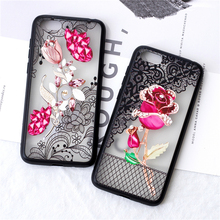 For HUAWEI Y5 2018 Case Luxury 3D Lace Flower Butterfly Phone Back Cover For HUAWEI Y5 Prime 2018 Sexy Floral Hard PC Funda Cap