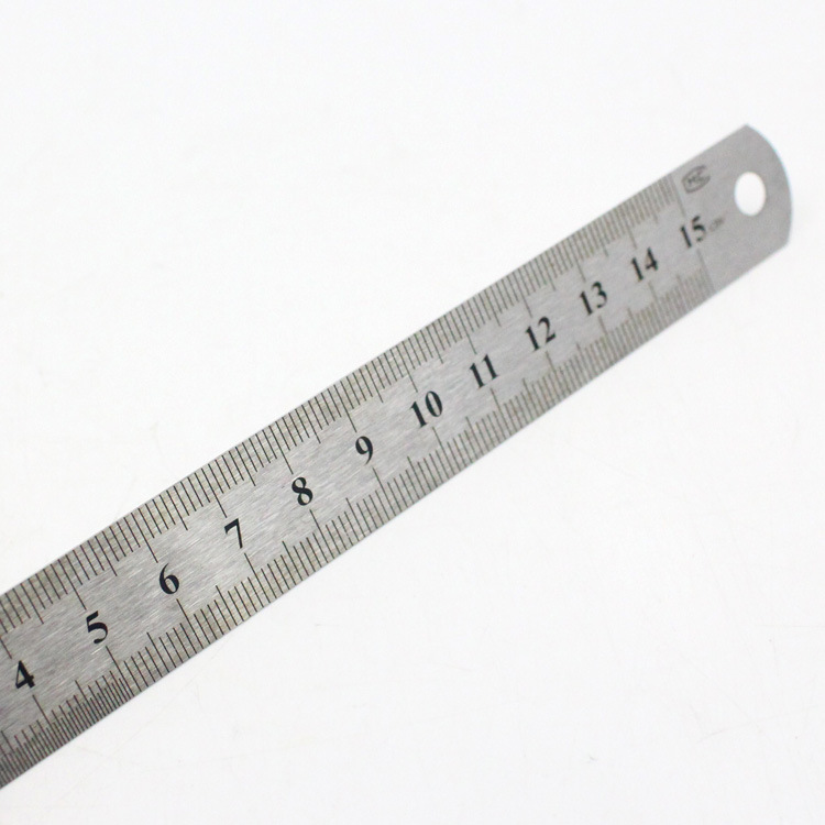 Sewing Foot Sewing 15cm 20cm 30cm Stainless Steel Metal Straight Ruler Ruler Tool Precision Double Sided Measuring Tool