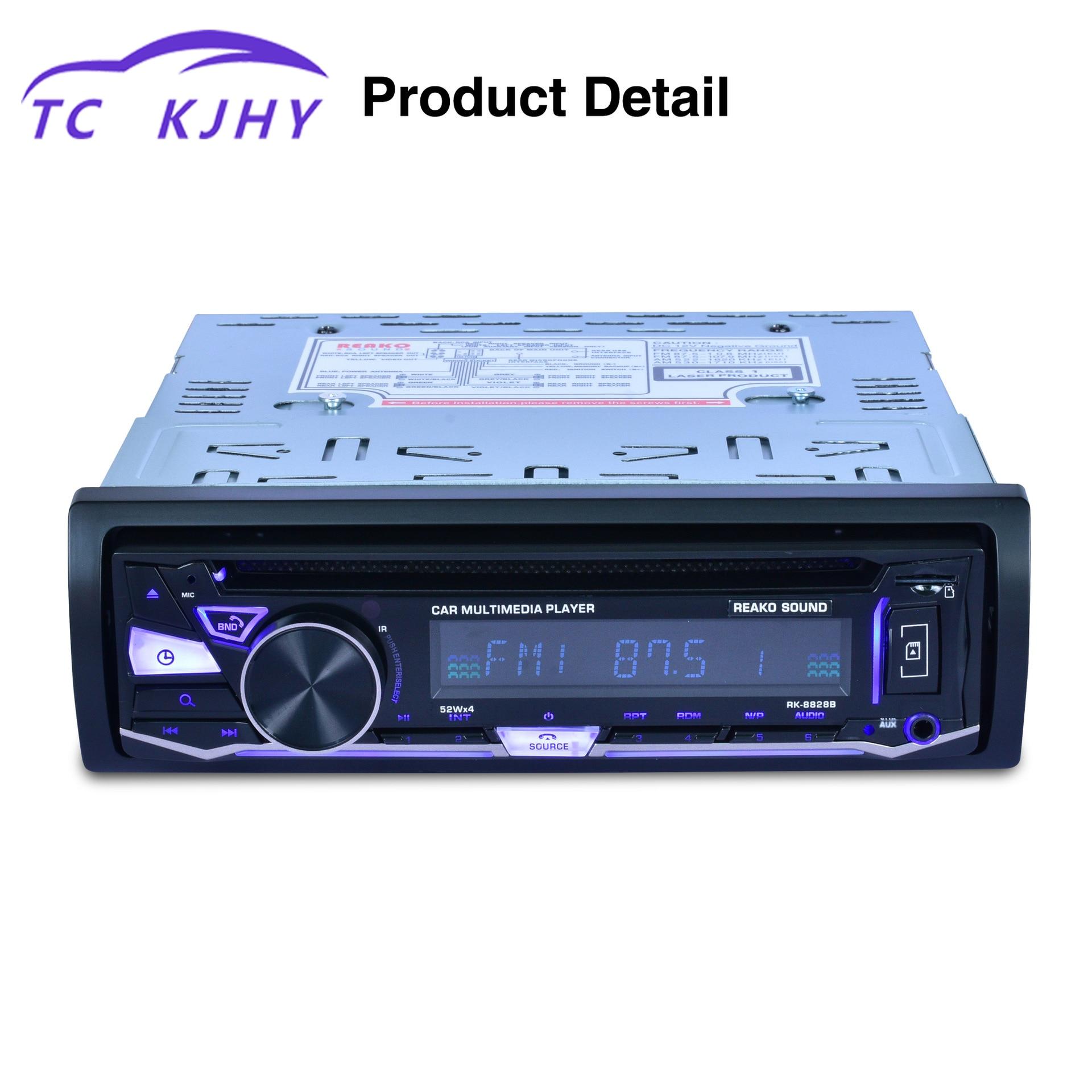 Véhicule simple broche DVD panneau fixe Bluetooth véhicule simple broche DVD voiture lecteur MP3 haut-parleurs Audio affichage DVD général