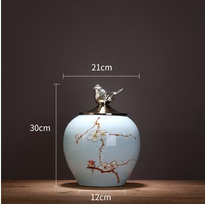 Beaux pots de rangement en céramique, articles décoratifs de bureau à la maison, artisanat moderne créatif - 5