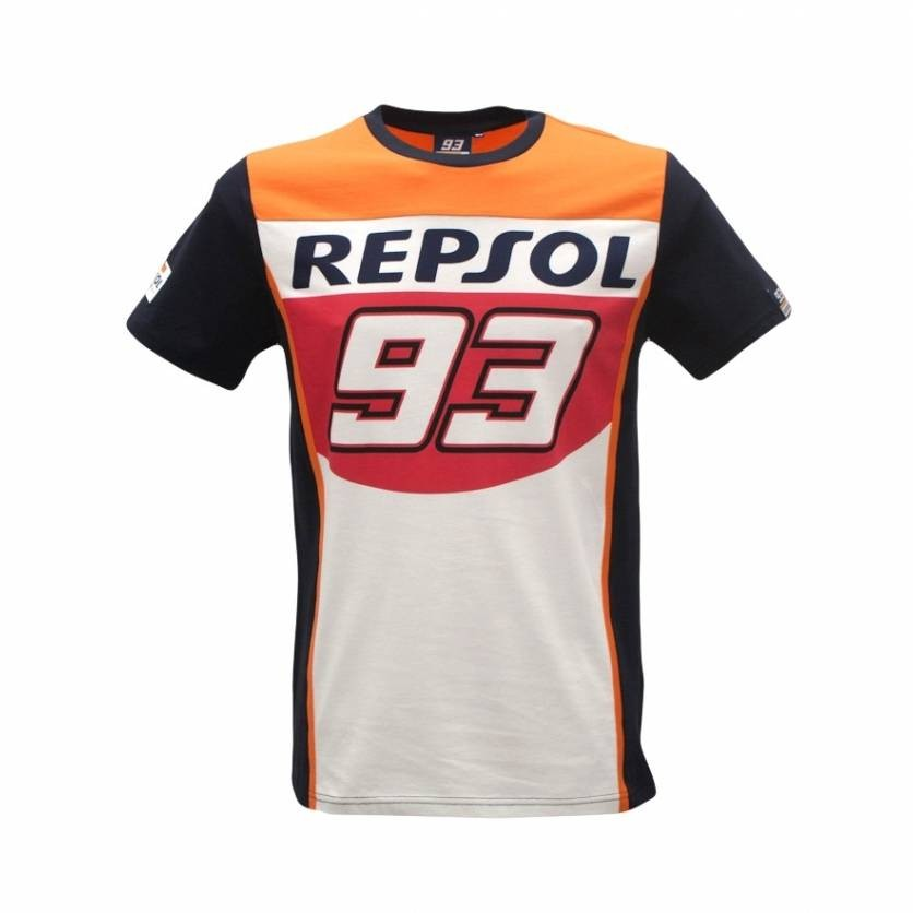 REPSOL 93 MOTO GP VR46 T-shirts 93 Motorcycle Youth MAV T-shirts Racewear Dirt Bike Jersey MX ATV off road RacingT-shirt Black