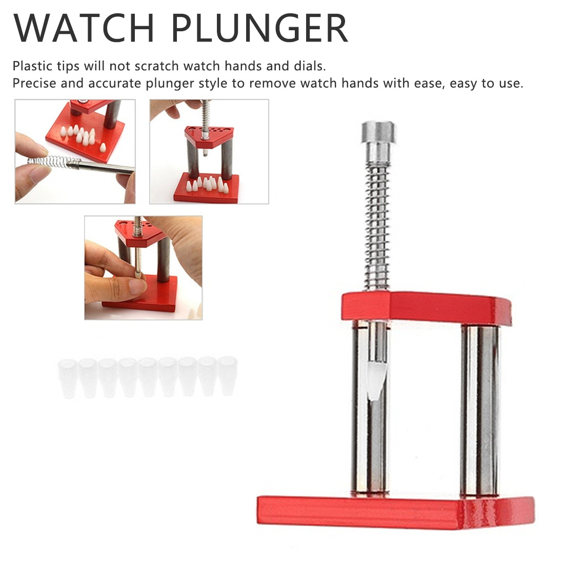 Professional safe Watch Hand Plunger Puller Remover Set Wristwatch Repair Tool watch parts tool for watchmaker Watch Tool Kit