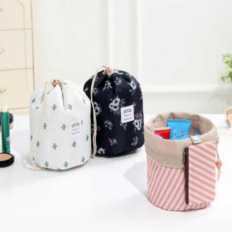 Women Travel Drawstring Lazy Cosmetic Bag Zipper Flamingo Make Up Case  Organizer Storage Makeup Pouch Toiletry 46de2c2825338