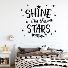 Funny shine like the stars Wall Decal Living Room Removable Mural For Bedroom Sticker Home Decor