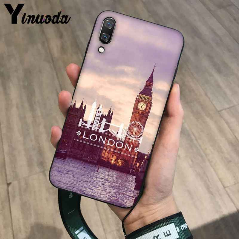 Yinuoda London big ben Bus TPU Soft Silicone Phone Case Cover for Haiwei P10 plus Honor 9 10 View 10 Mate 9 Coque Shell