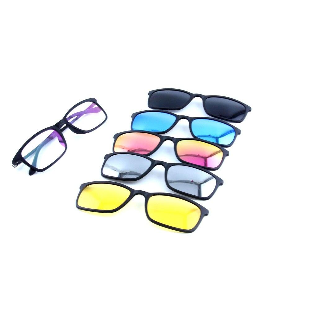 986139030b Eyekepper Flip-up Clip-on Sunglasses Polarized 59x39 MM 3-Pack Metal Glasses