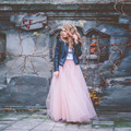 Cute Long Tulle Skirt Pink Skirt For Girls Floor Length Tutu Elastic Waist Multi Layers Skirt Faldas S-5XL Free Shipping