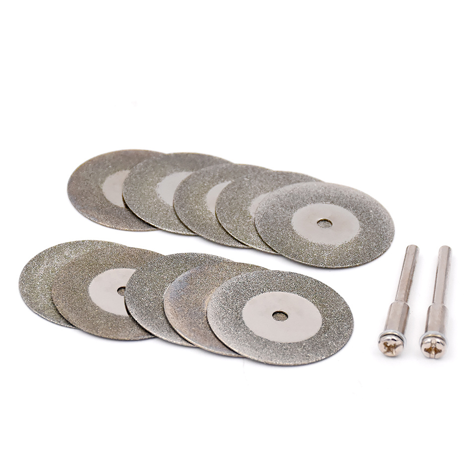 10pcs 16 20 25 30 Mm Diamond Metal Cutting Disc Saw Blades Wheel Metal For Dremel Rotary Tools Accessories With Mandrel