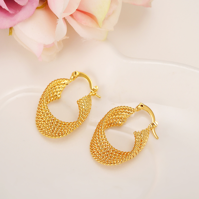 59739c52198 Bangrui Top Quality Gold Color Earrings for Women Girls Gold Color Arab  Jewellery Africa Earring
