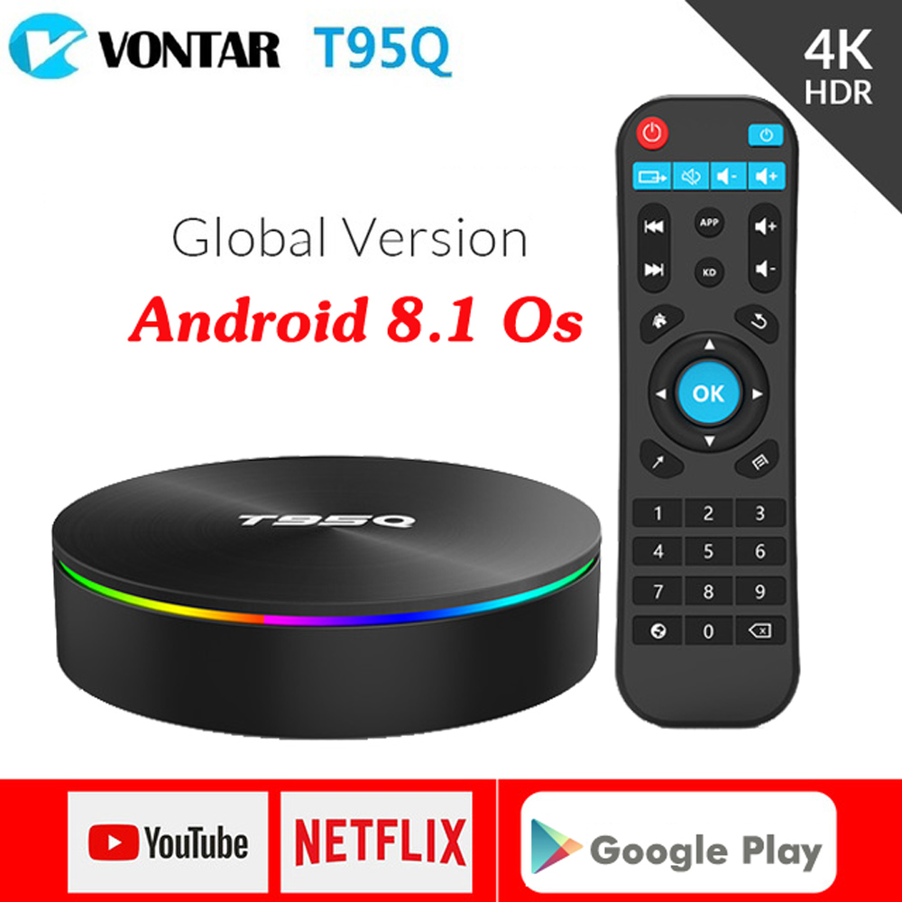 T95Q Smart TV Box Android 8.1 4GB 32GB / 64GB Amlogic S905X2 Set Top Box Dual WIFI USB 3.0 HDR H.265 4K Media Player pk Mi box S