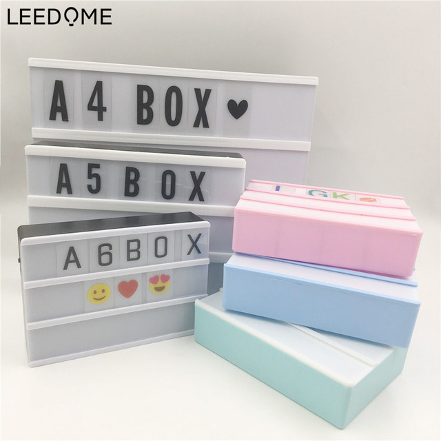 Leedome A4 A5 A6 Size LED Combination Light Box Night Lamp With Letter Card DIY Lighting