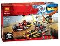 2016 New BELA 10444 Ninja Bike chase Building Blocks Set 3 In 1 Kai's Blade Bricks toys Compatible legoINGlys 70600