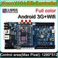 3 Г/WIFI Xixun Y10 Беспроводной Android СВЕТОДИОДНЫЙ Дисплей Платы Управления АИПС Платформы, СИД Android управления y10 такси верхний знак контроллер