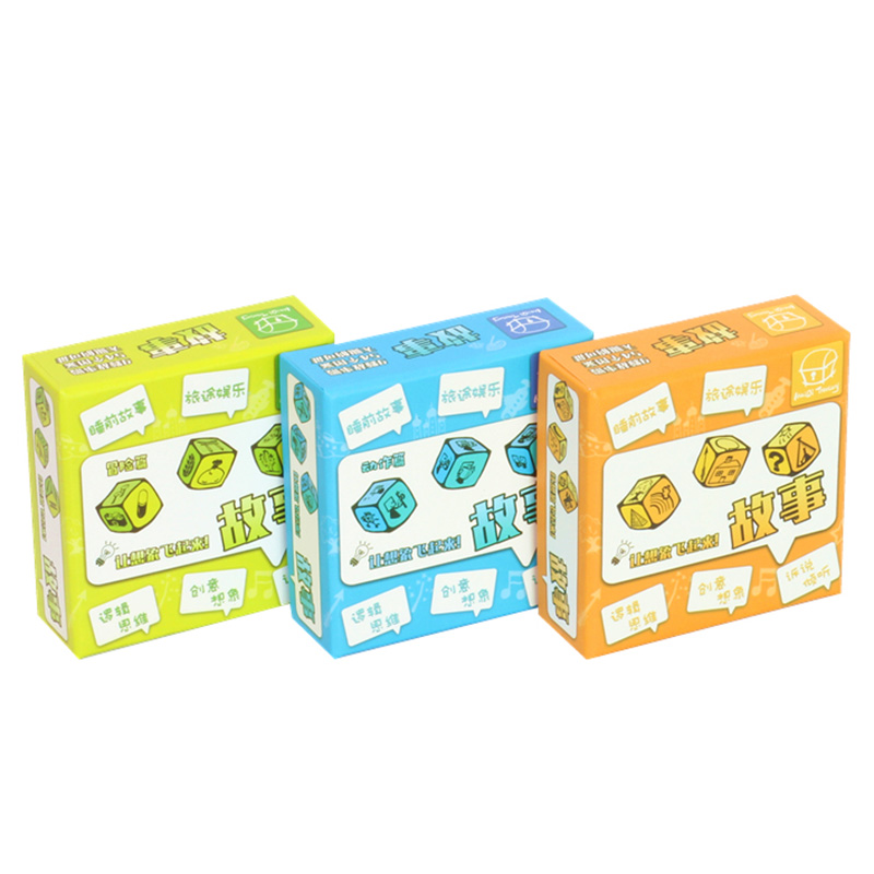 3 Kinds DIY Telling Story Dice Set Puzzle Board Game Family/Party/Friends Parents With Children Best Gift