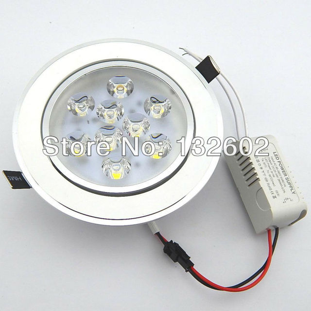 9W 12W Ceiling downlight LED lamp Recessed Cabinet wall Bulb 85V-245V for home living room illumination