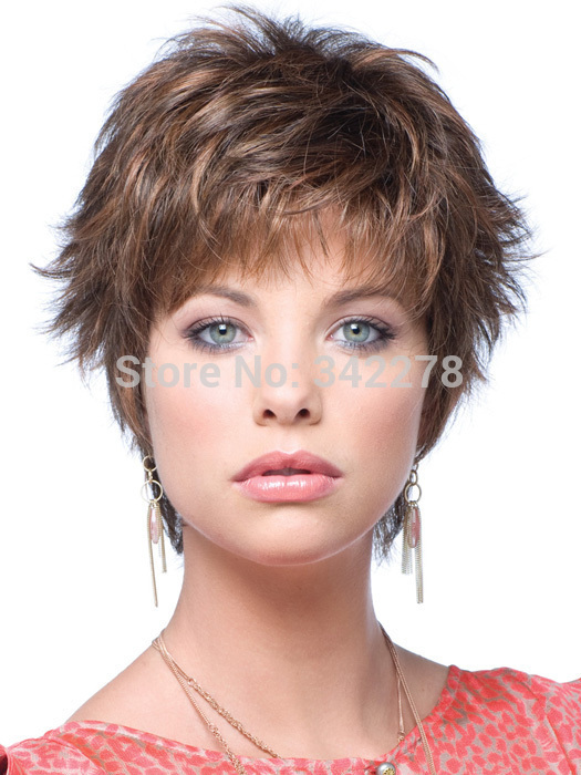 Fashion Newest Good Womens Cut Hairstyle Synthetic Wigs Short Wavy Hair Wigs For Americans Europeans Sinteticas Perruque Natura Synthetic Wig Short Synthetic Wigswig Short Aliexpress