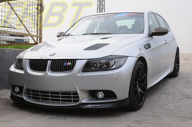 E90 Body Kit Abs Front Bumper With Foglight Side Skirts