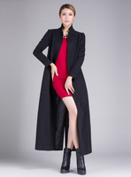 2015 New Long Section Thick Woolen Coat