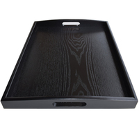 DoreenBeads Japan Style Wooden Tea Tray Kungfu Tea Board Puer Tea Trays Teapot Storage Container Home