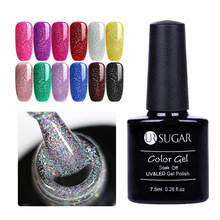 UR SUGAR 7,5 ml Rainbow Holografisk Gel Nail Polish Shimmer Diamant Glitter Soak-Off UV LED Gel Langvarig Lakk Lacquer DIY
