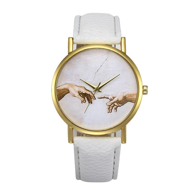 Fashion watch Womens Retro Design Leather Band Analog Alloy Quartz Wrist Watch relogio feminino Dropshipping Free Shipping NM5Z