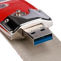 Mosunx новый красный USB 3.0 64 ГБ Бизнес кожа флэш-накопитель Memory Stick u-диск 17nov28 дропшиппинг F