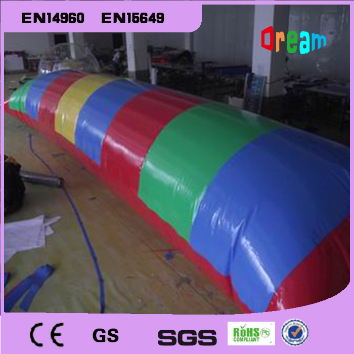 Free Shipping 9*3m 0.9mm PVC Water Jumping Pillow Inflatable Water Trampoline Inflatable Water Blob Come With A pump
