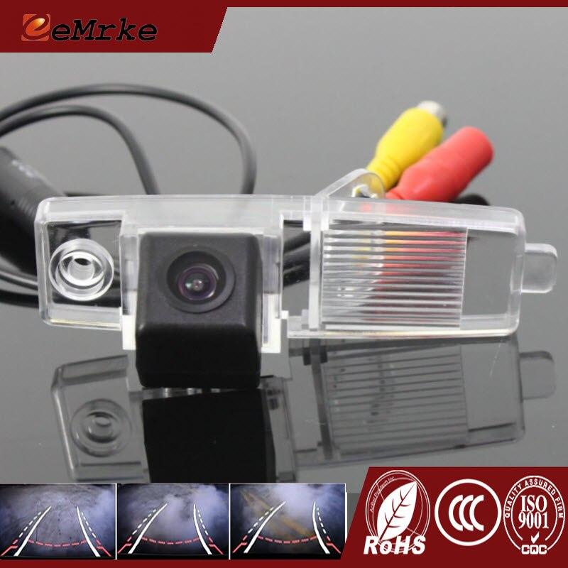 Caméra de recul de voiture EEMRKE CCD HD avec piste renversant la trajectoire de guidage pour Toyota RAV4 Highlander Kluger