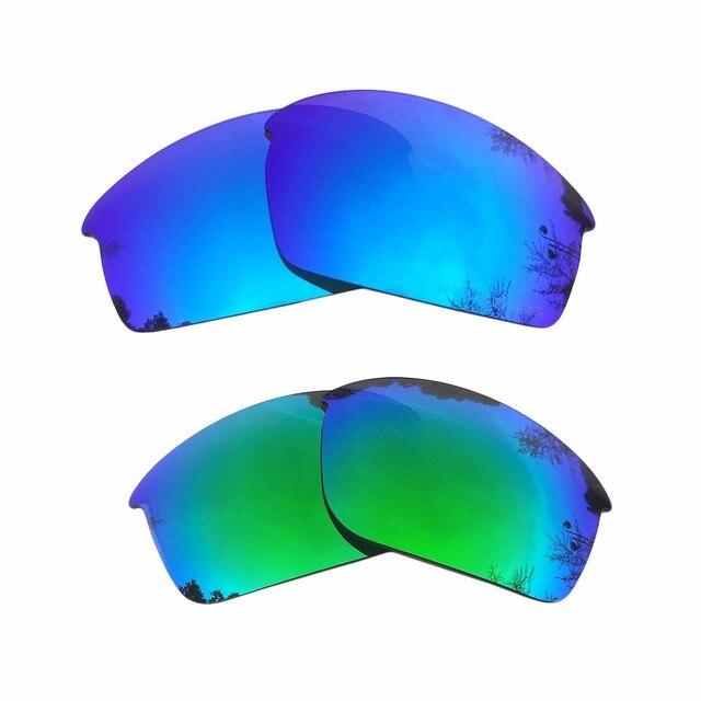 4315714704201 Hielo azul y verde espejo polarizado lentes de reemplazo para la botella  Rocket marco 100%